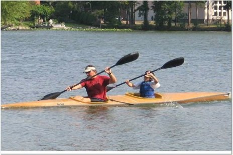 Dad and son racing K2